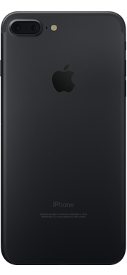 iPhone 7 Black Plus Back Ice Wireless