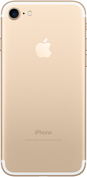 iPhone 7 Gold back Ice Wireless