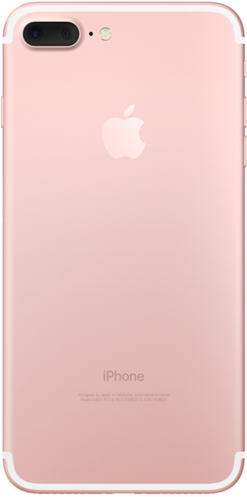 iPhone 7 Rose Gold Plus back Ice Wireless